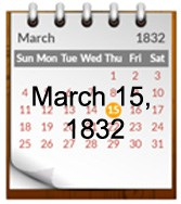 Image of 1832 March Calendar