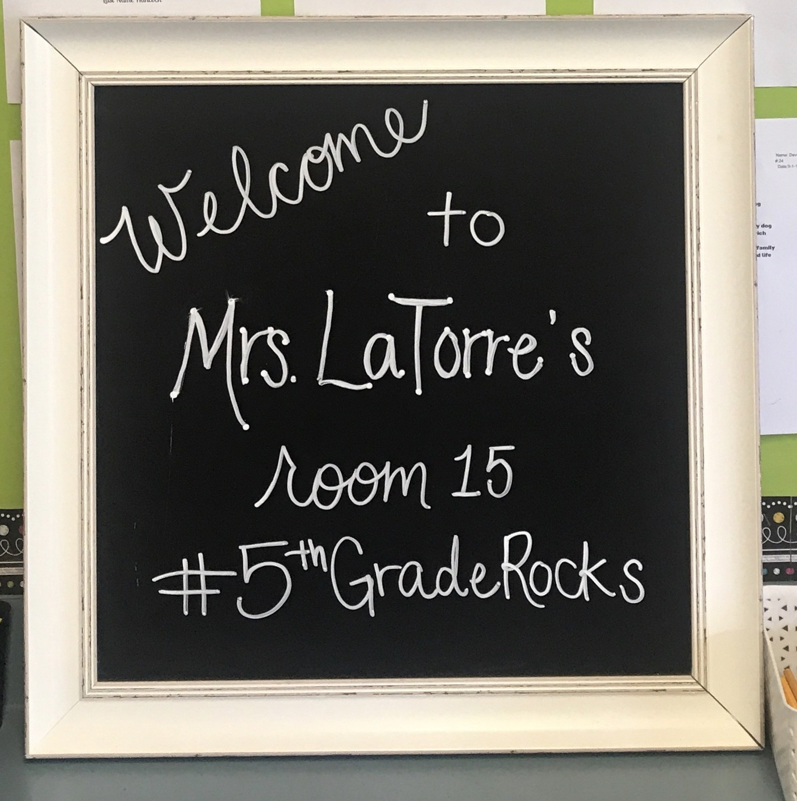 Chalk Board with Welcome Message