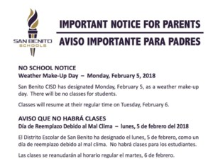 no school notice