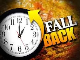 fall back pumkin with a clock