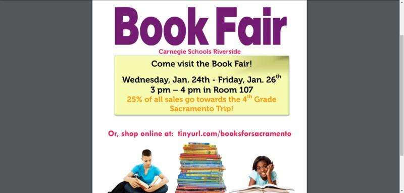 Carnegie Schools Riverside Book Fair Featured Photo