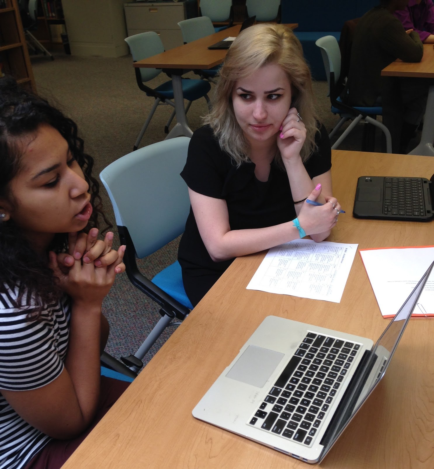 HSC teacher and student review student's ePortfolio