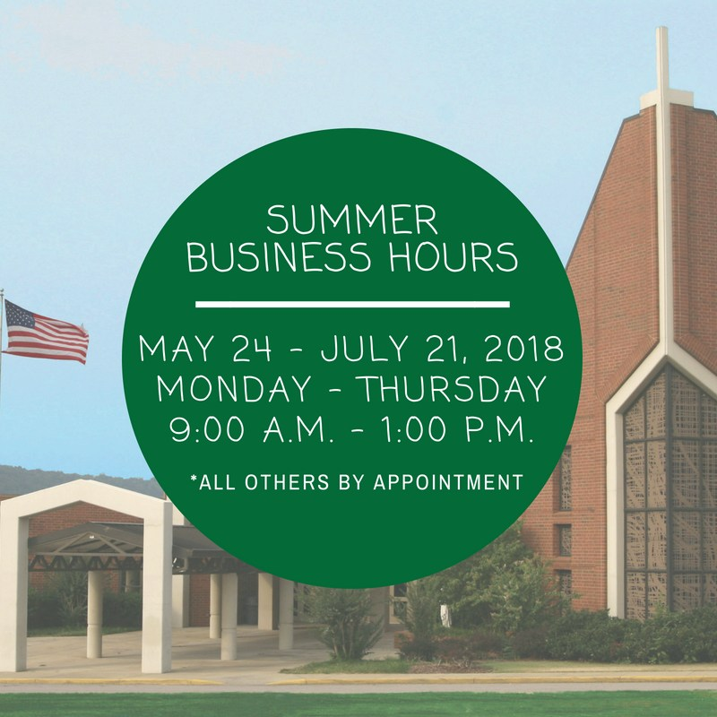 Summer Business Hours Thumbnail Image