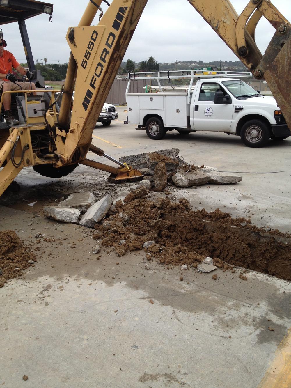 Rancho Starbuck Main Line Irrigation Repair