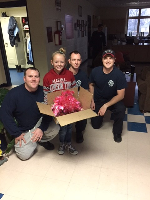 Delivering our Thanks to the Smyrna Fire Station #1