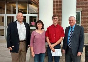 L to R: Principal Van McWreath, Mrs. Webster, Nathan Webster, Mr. Webster