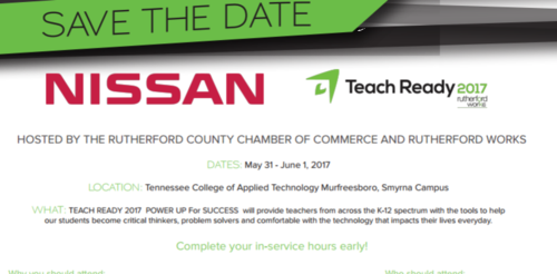 Save the Date Teach Ready Conference May 31 to June  1