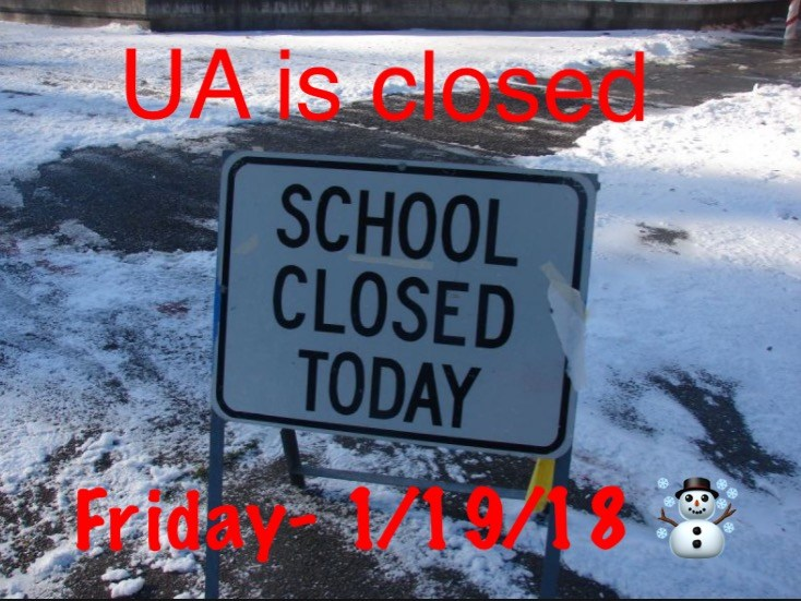 School Closed- Friday 1/19/18