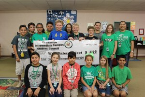 5th grade PIC Student Council Members raise money for local charities.