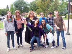 van der Zee w students.JPG