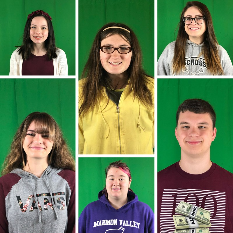 photos of the 6 students of the month