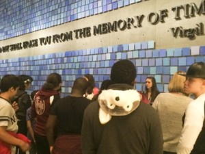 Students at the 9/11 Memorial