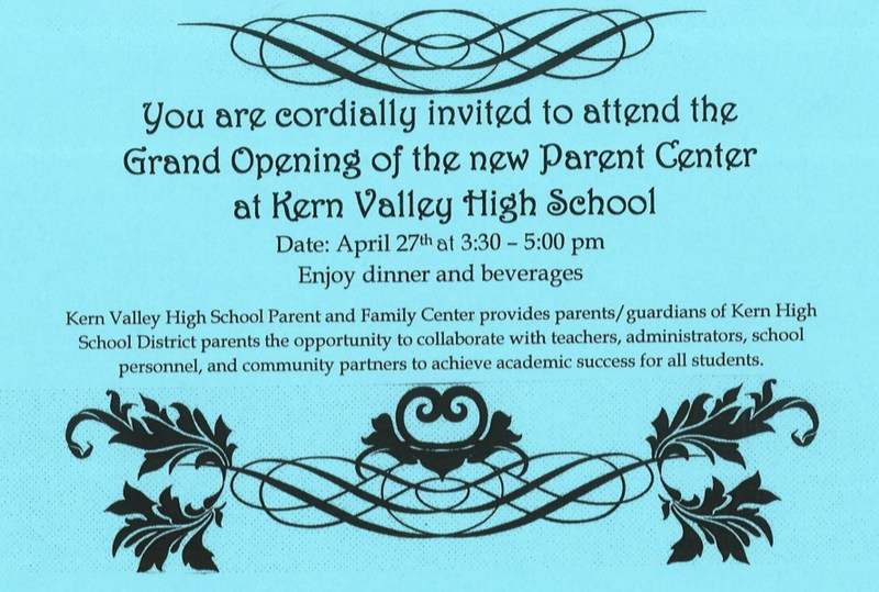 Join us for the Grand Opening of the Parent Center at KVHS Thumbnail Image