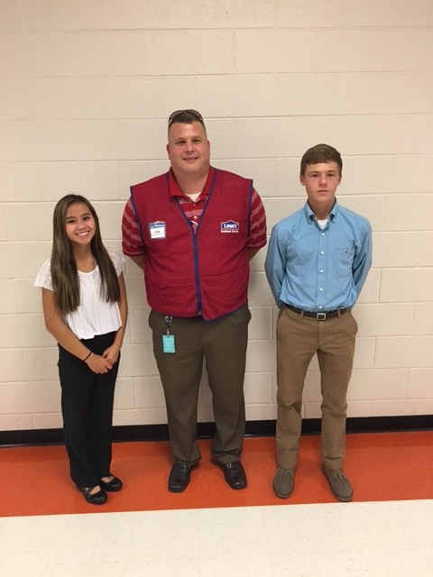 Kacie & Landon with Mr. Barlow (Lowes Companies)