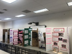 Student Science Fair projects.