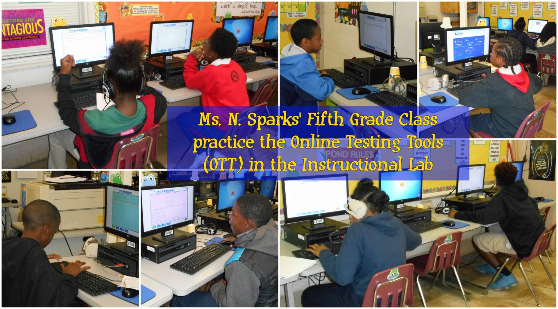 Fifth Grade practicing online tools