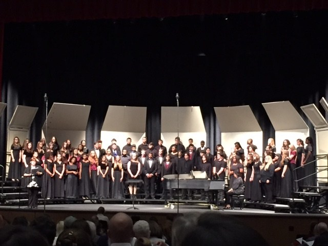 Honor Choir on stage