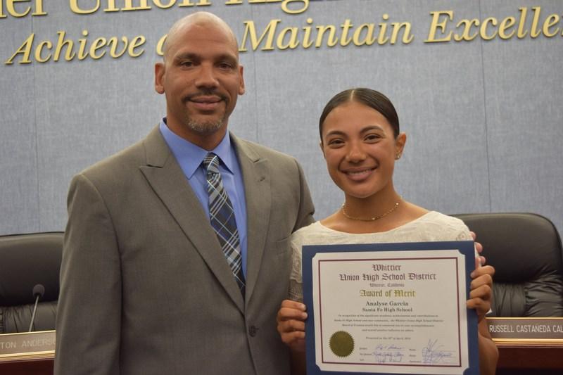 Santa Fe Student Awarded for Leadership Featured Photo