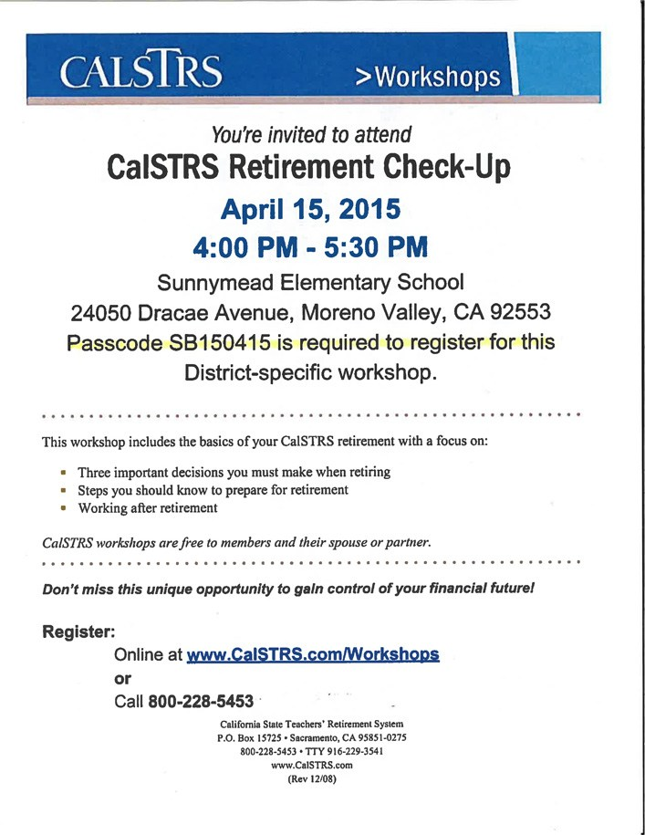 calstrs retirement flyer