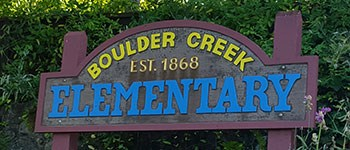 photo of boulder creek elementary sign