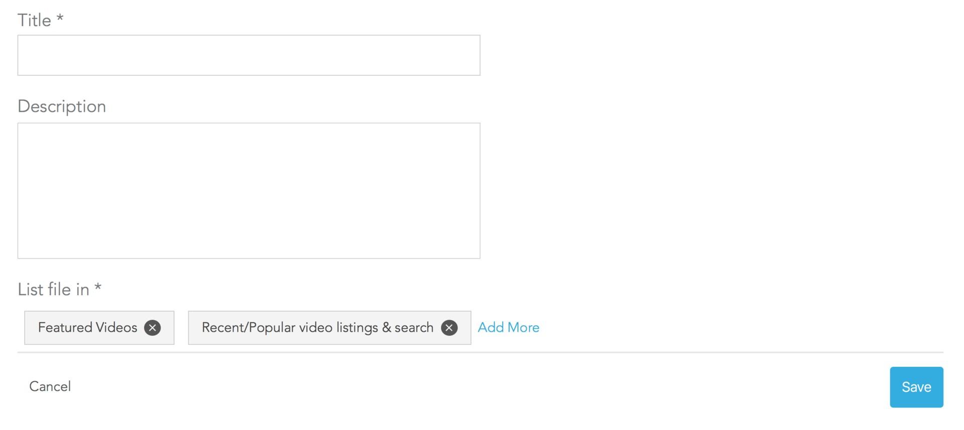 enter video details