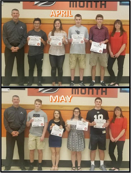 April and May Students of the Month