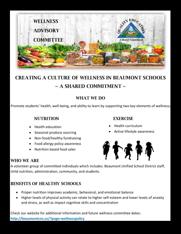 Flyer with Fruits and Vegetables