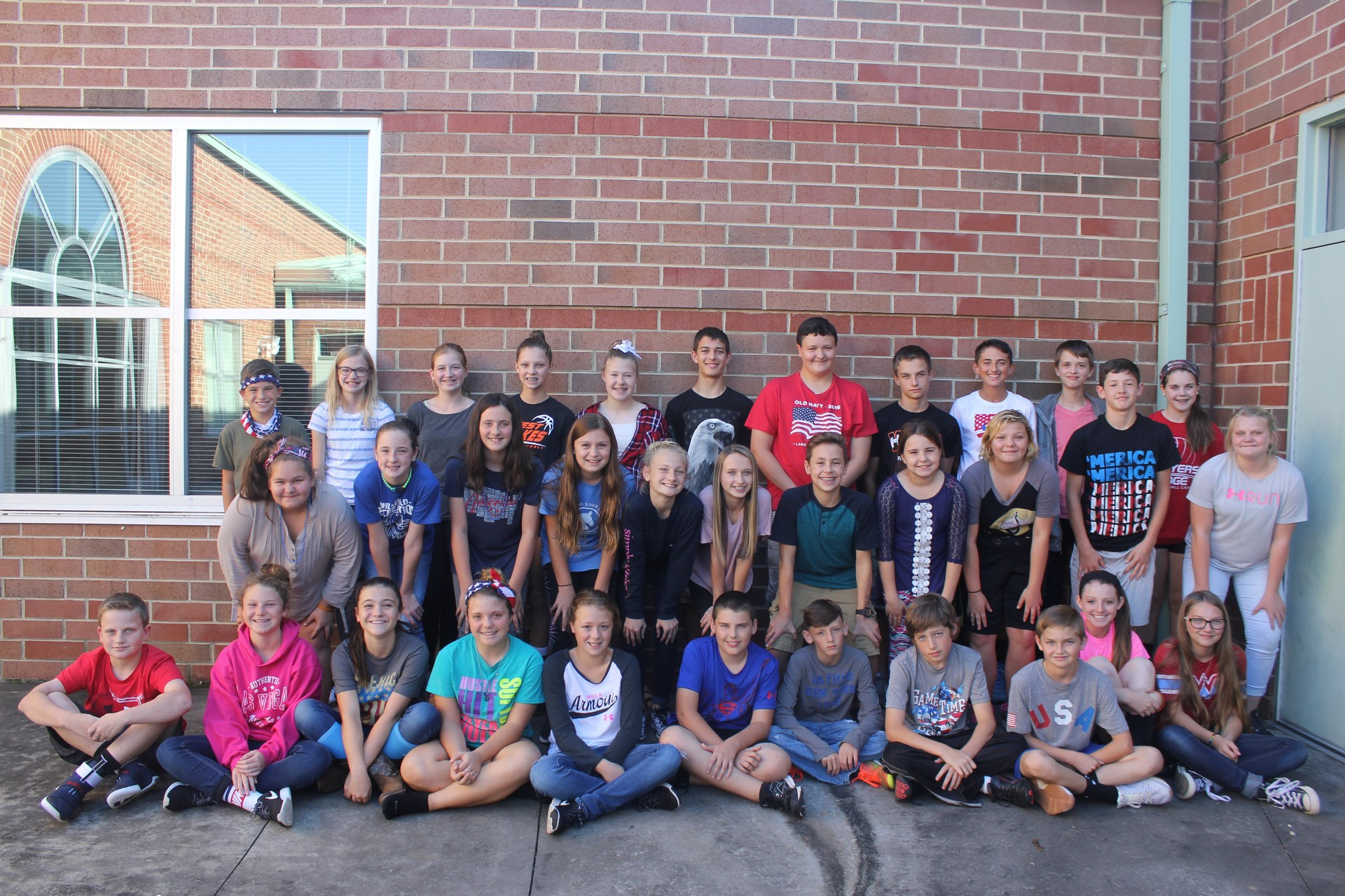 Image of 7th Grade Beta Club students.