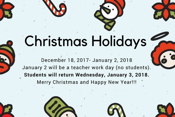 Christmas Break Announcement