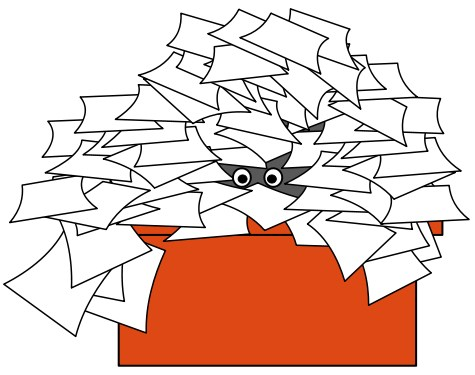 clipart of papers on desk