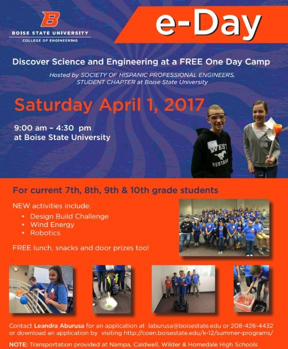 E-Day at Boise State Opportunity! Thumbnail Image