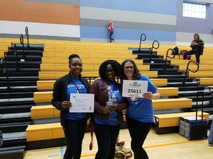 Coaches Ms. Berrian, Ms. Sutton, and Mrs. Biel