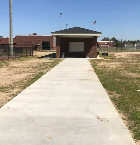Brookland-Cayce High's new baseball/softball concession stand...front view.