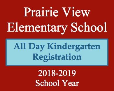 2018-2019 Prairie View Kindergarten Registration Featured Photo