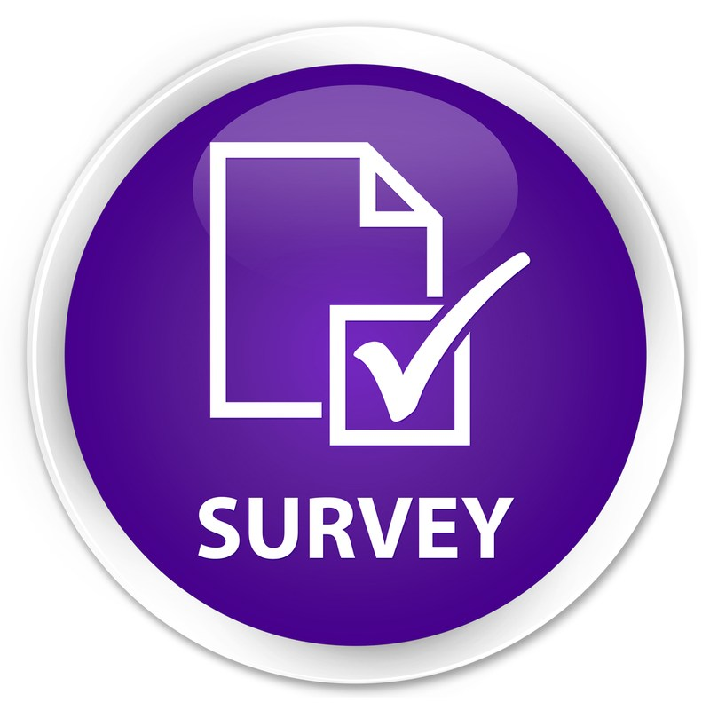 Icon for survey questionnaire with check box
