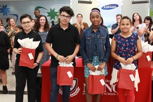 MISD students at Samsung Art Show