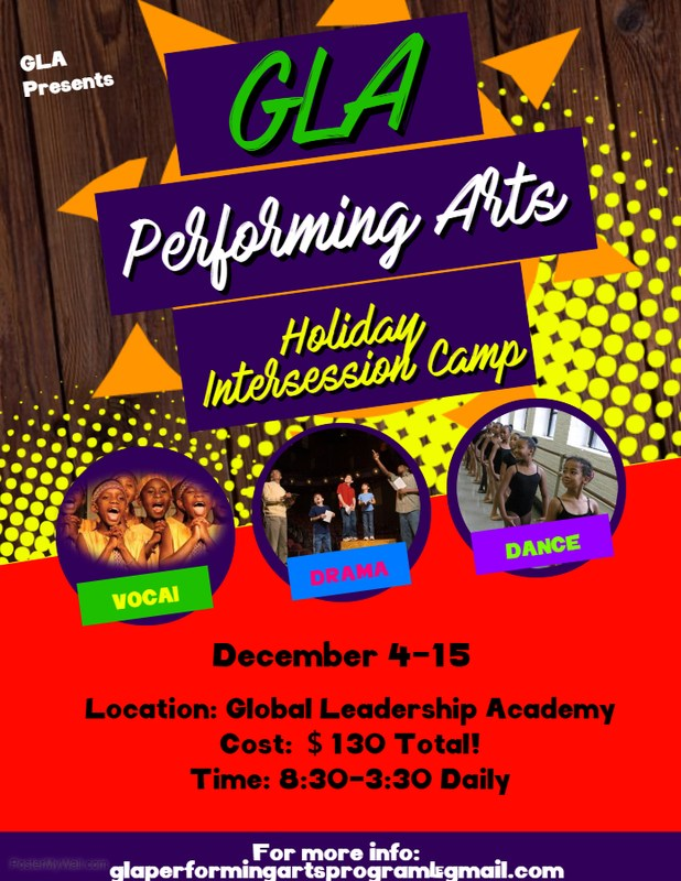 GLA Performing Arts Holiday Intersession Camp is Here!! Featured Photo
