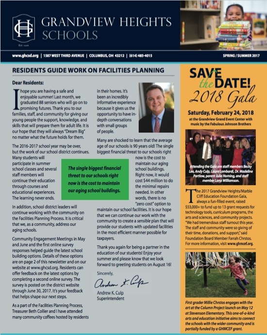 Newsletter Graphic of First Page
