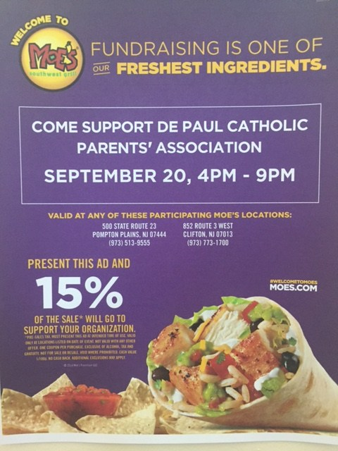 Eat at Moe's - Support the DePaul PTA Featured Photo