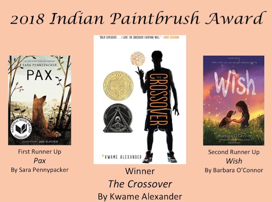 Top 3 winners of Indian Paintbrush books