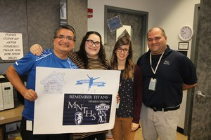 MISD Technology Director Alfredo Loredo with MNTHS Staff members