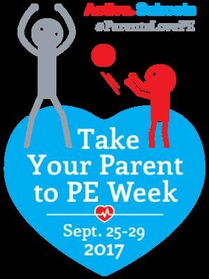 Take your parent to pe week logo