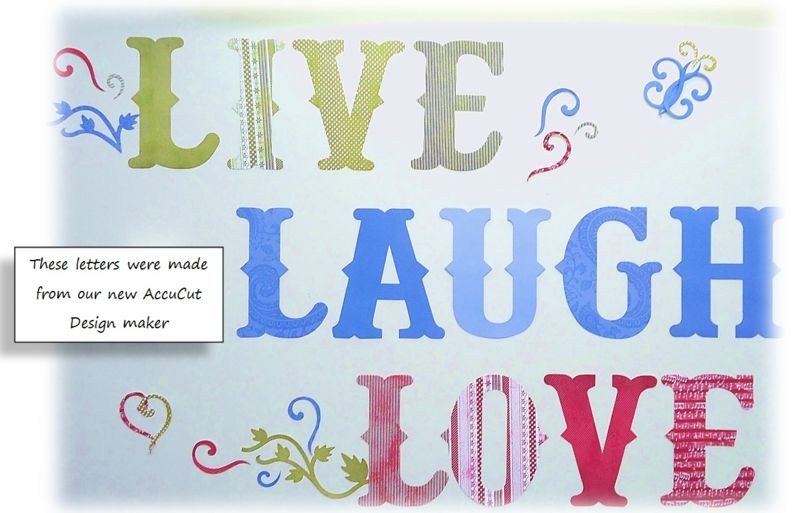 LIVE LAUGH LOVE made from our 11