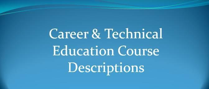 CTE course descriptions link logo