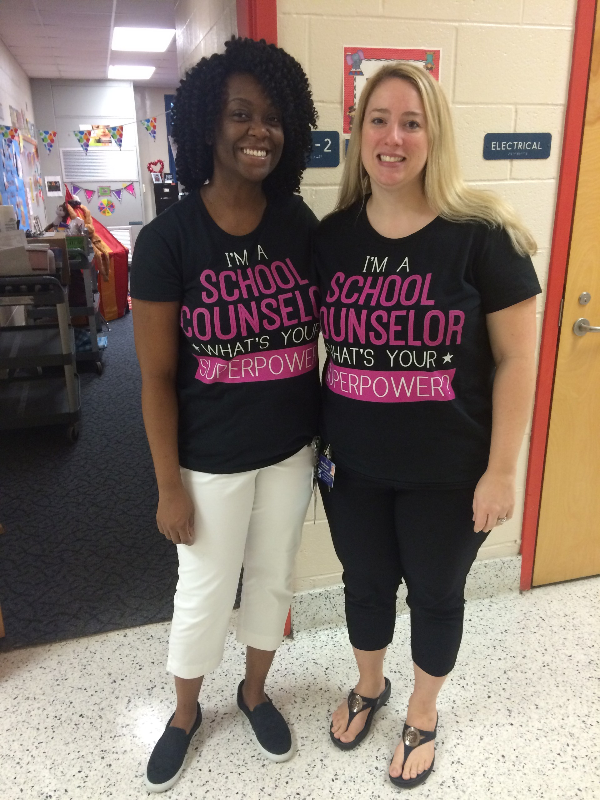 Ms. Doyle and Mrs. Patterson after presenting at a Parent Party event.