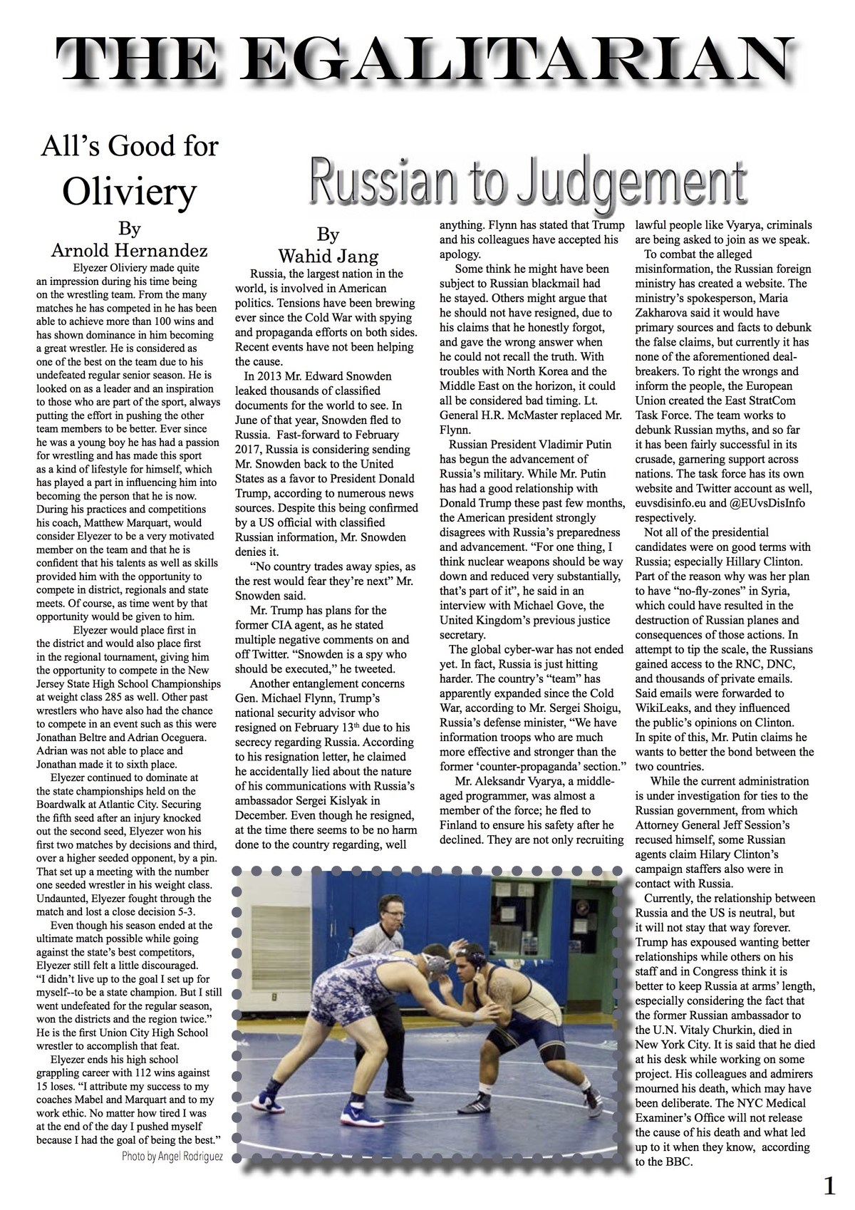 egalitarian wrestling to rusian judgement edition