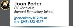 Joan Porter email