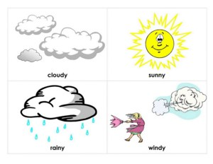 drawings of clouds and other weather related art