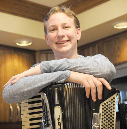 Bishop McCort sophomore follows grandfathers' footsteps, plays accordion Thumbnail Image