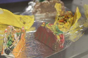 Ceramic tacos created by FMS Ceramics Class